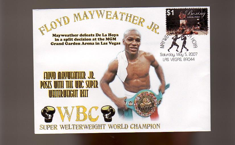 Floyd MAYWEATHER Jr Def de La Hoya WBC Title Win Cov 2