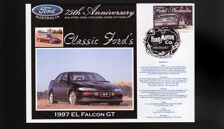 2000 Ford 75th Anniv Cov 1997 El Ford Falcon GT | eBay