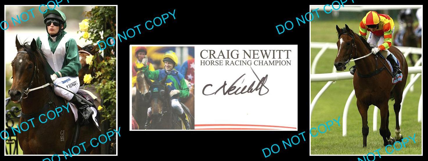 CRAIG-NEWITT-AUSTRALIAN-HORSE-RACING-JOCKEY-SIGNED-COVER-2-PHOTOS