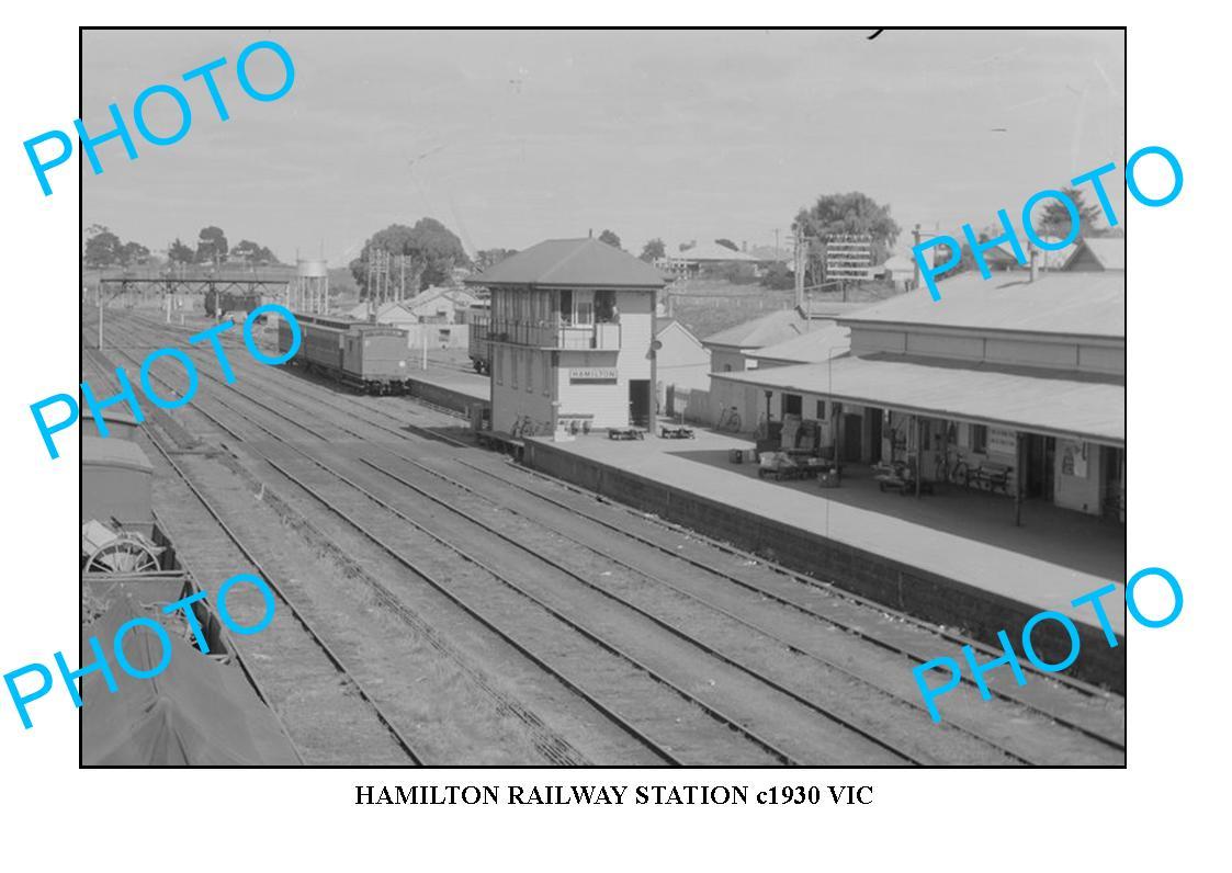 LARGE-PHOTO-OF-OLD-HAMILTON-RAILWAY-STATION-VIC-c1930