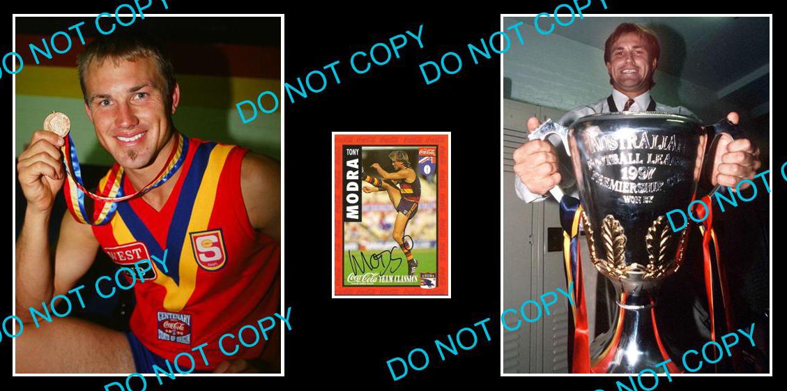 TONY-MODRA-ADELAIDE-CROWS-CHAMPION-SIGNED-CARD-2-PHOTOS