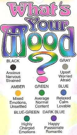 Mood And Color Chart Good Rings With Affordable Mood