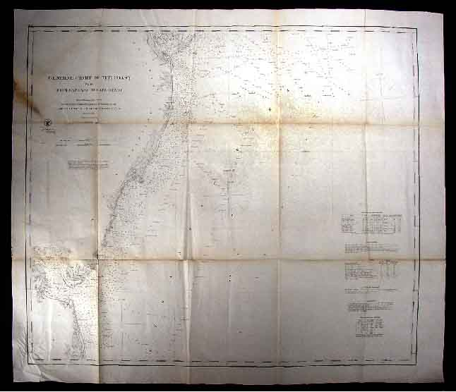 1862-US-Coast-Map-Cape-May-Henry-Virginia-Delaware-MD